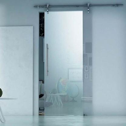 Immagine di Porta scorrevole, cristallo temperato, 10 mm, neutro, 86x215 cm, DX