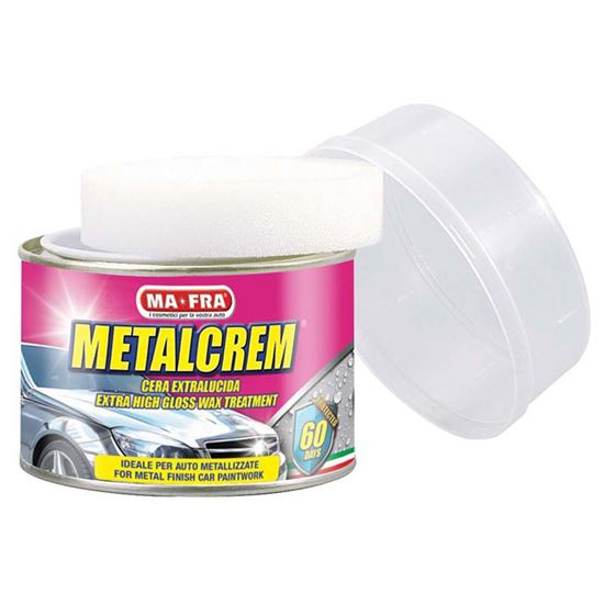 Immagine di Cera extralucida Ma-Fra, Metalcrem, crema per auto metallizzate, esente da sostanze abrasive, 250 ml