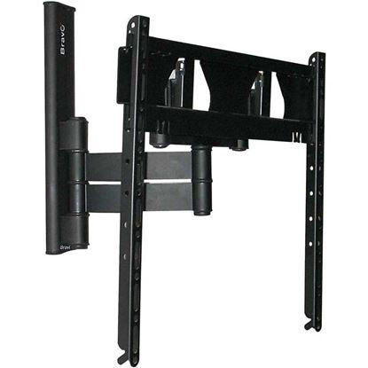 """Immagine di Supporto 1 braccio, da 40"""" a 50"""", per tv lcd, alluminio anodizzato, portata massima 45 kg, colore nero"""