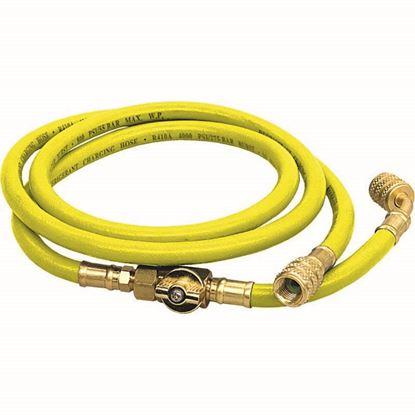 """Immagine di Tubo flessibile, con rubinetto 5/16"""", colore giallo"""