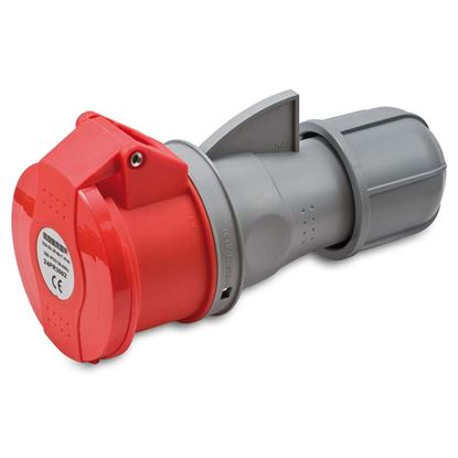 Immagine di Presa industriale dritta 16A, 3P+N+T, 6h, colore rosso, IP44, 380-415V