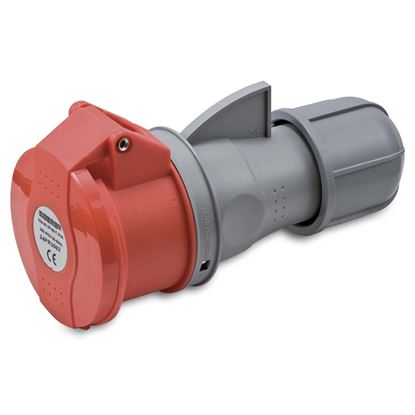 Immagine di Presa industriale dritta 32A, 3P+T+N, 6h, colore rosso, IP44, 380-415V