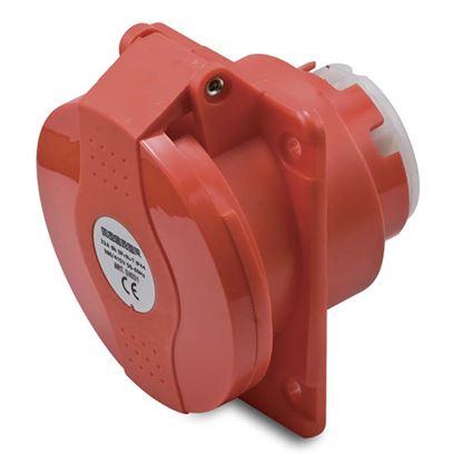Immagine di Presa fissa da incasso 16A, 3P+T, colore rosso, 6h, IP44, 380-415V